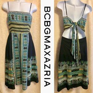 BCBGMaxAzria Tribal Print Poplin Dress